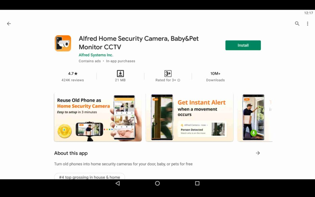 Install Alfred Security on PC