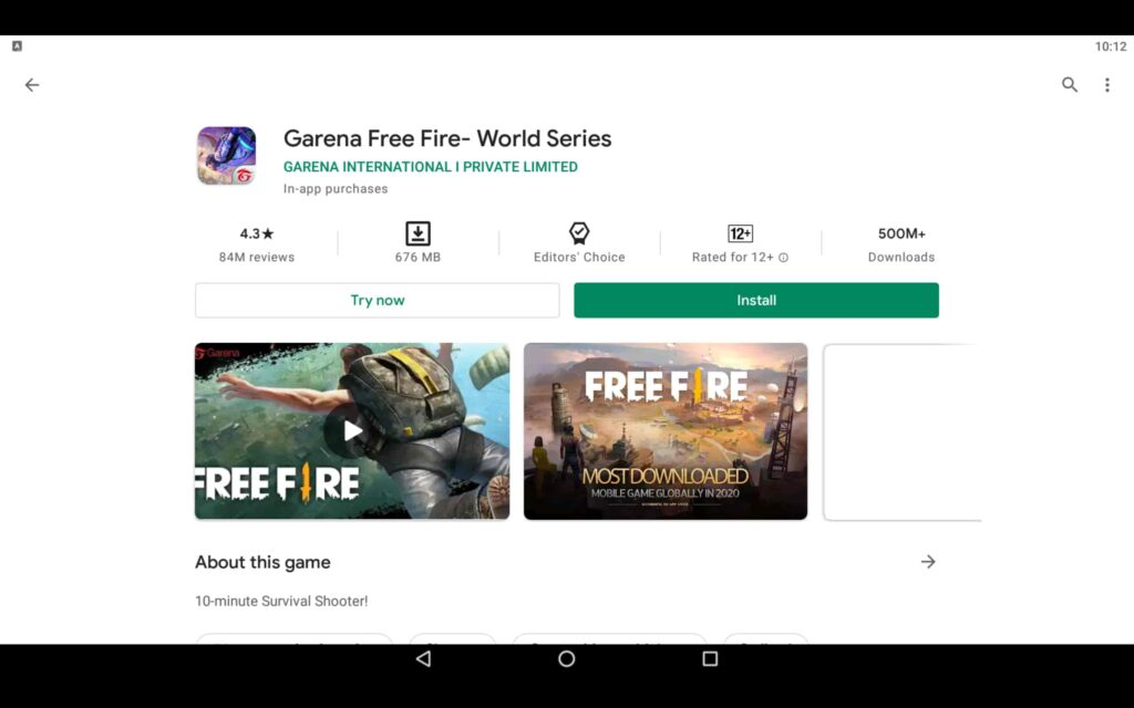 Install Free Fire on PC