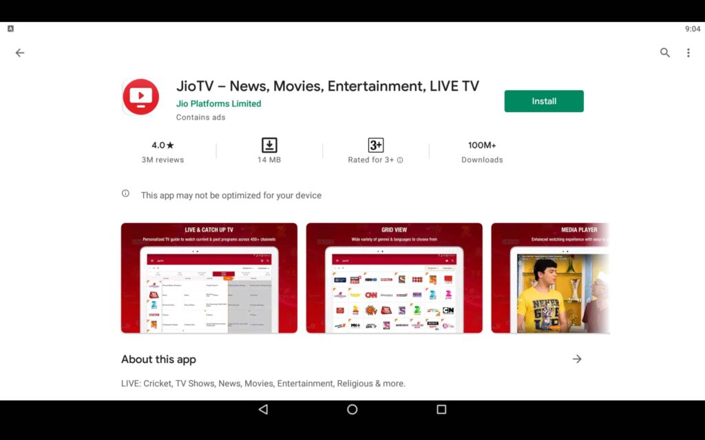 Install JioTV For PC