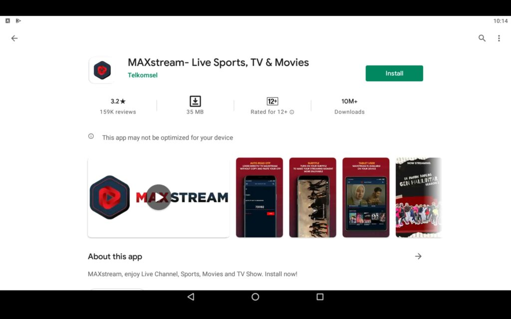 Install MAXstream on PC