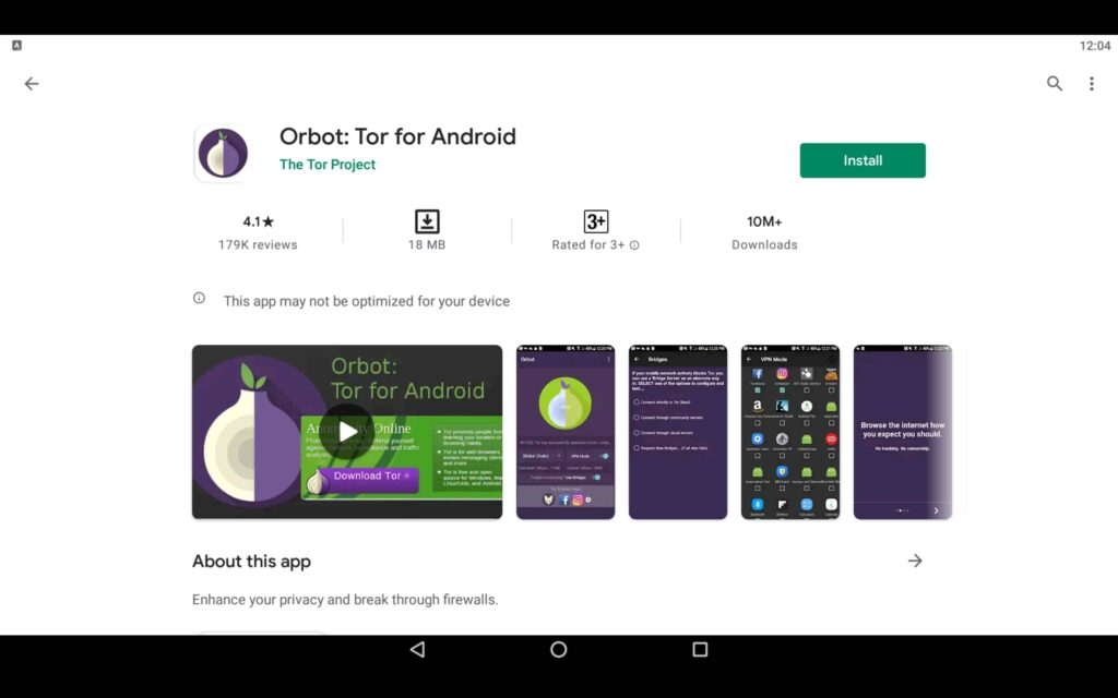 Install Orbot App on PC