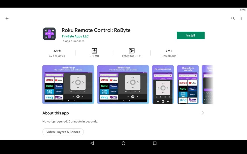 Install Roku App on PC