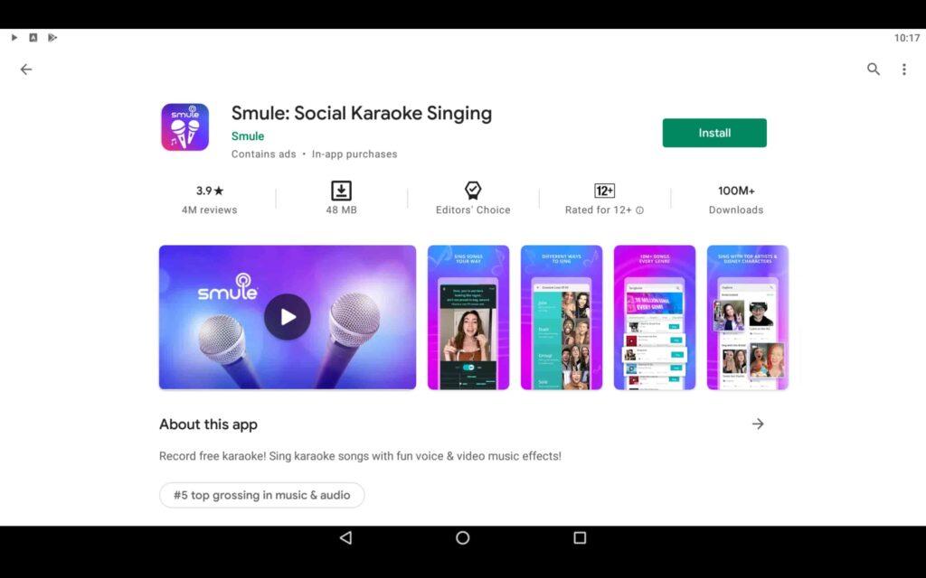 Install Singing App