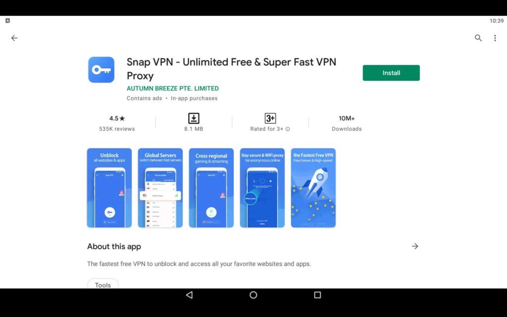 Install Snap VPN on PC