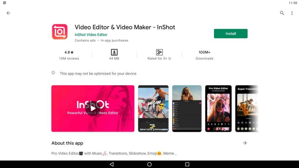 Install Video Editor App
