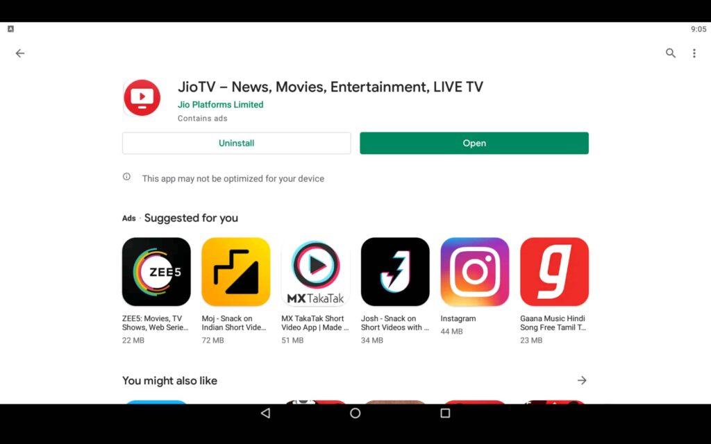 Open TV App