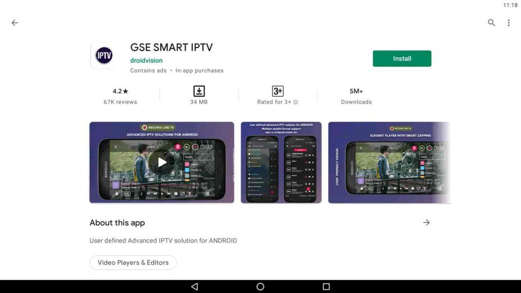 Install GSE Smart IPTV on PC