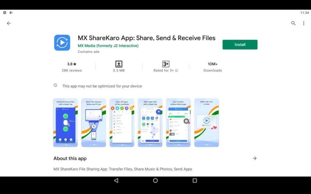 Install MX ShareKaro on PC