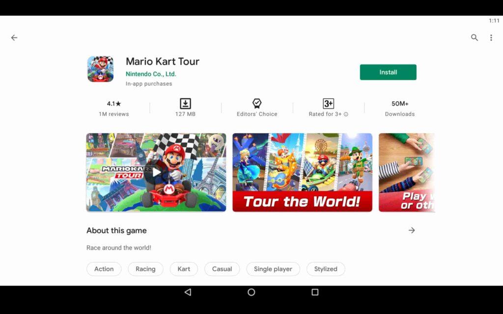 Install Mario Kart Tour on PC