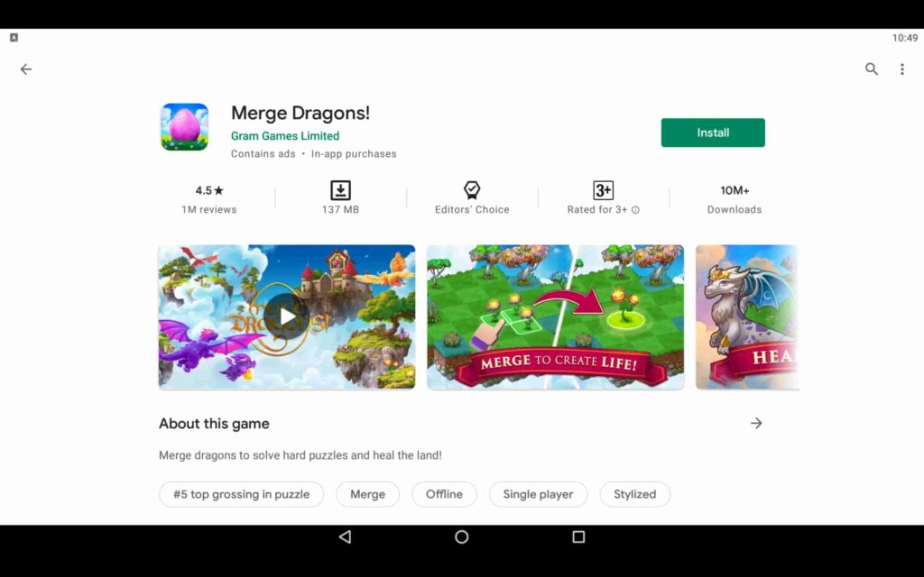 Install Merge Dragons on PC