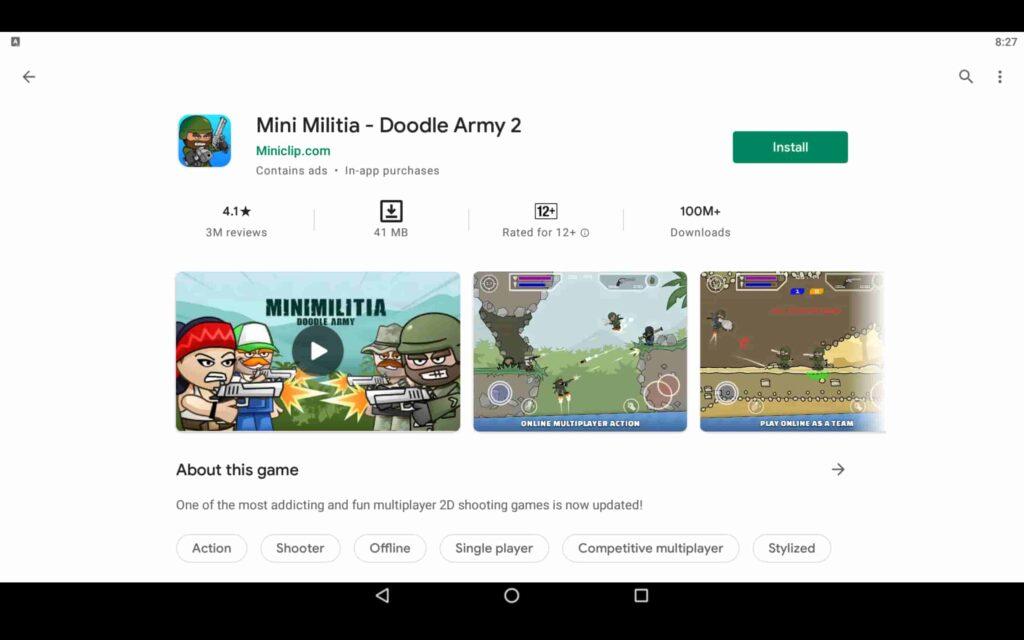 Install Mini Militia on PC