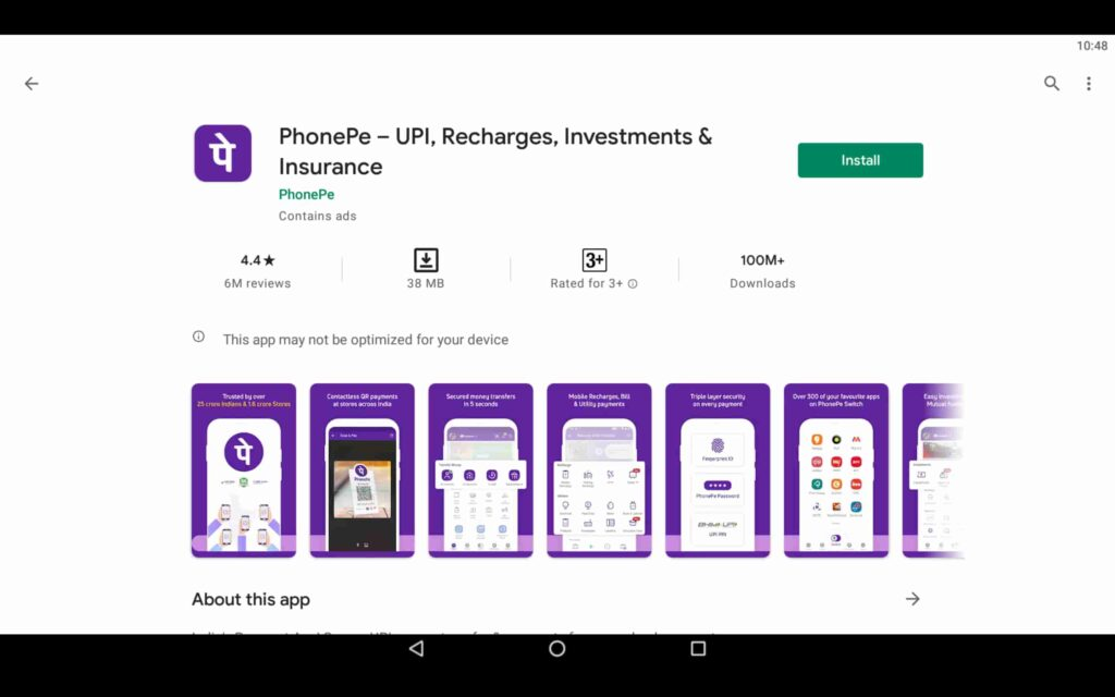 Install PhonePe on PC