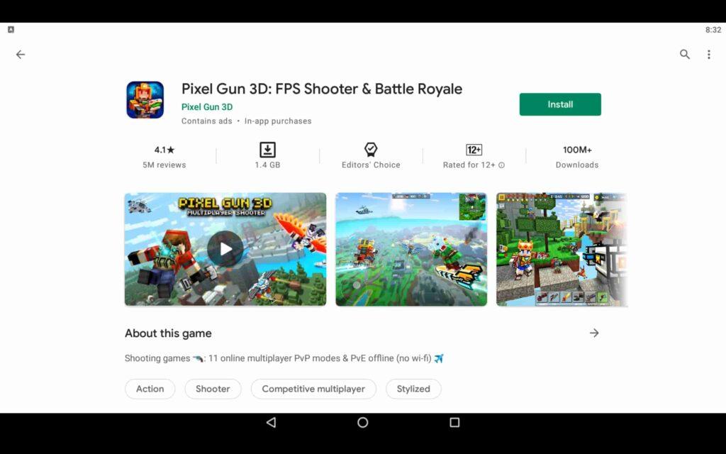 Install Pixel Gun 3D on PC