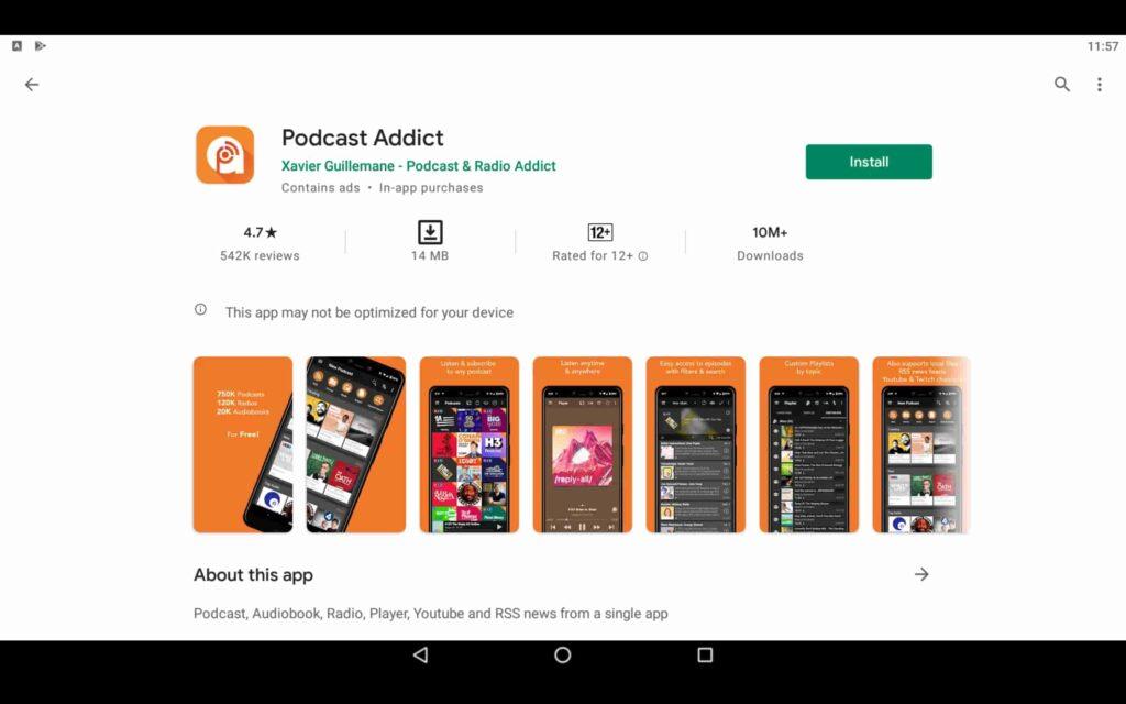 Install Podcast Addict on PC