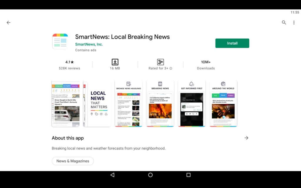 Install SmartNews on PC