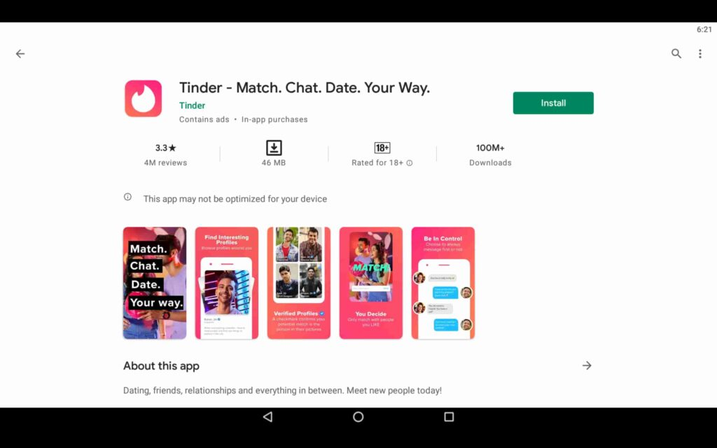 Tinder For PC | Download App on Windows 10 [Free]