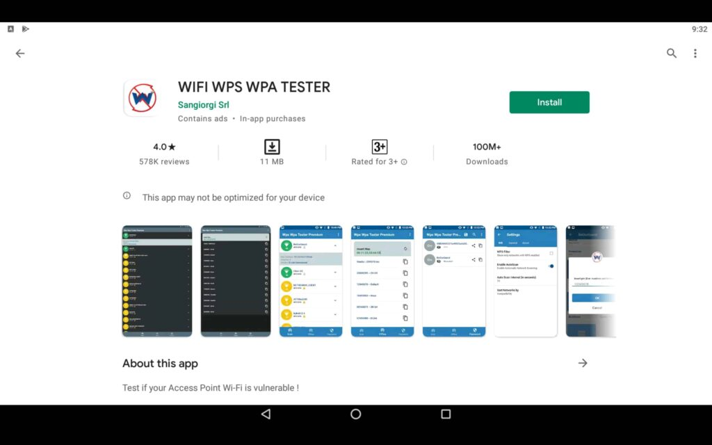 Install WPS WPA Tester on PC