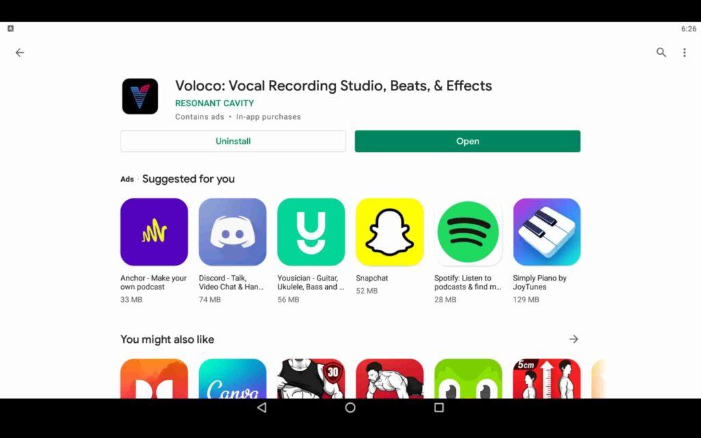 Open Audio App