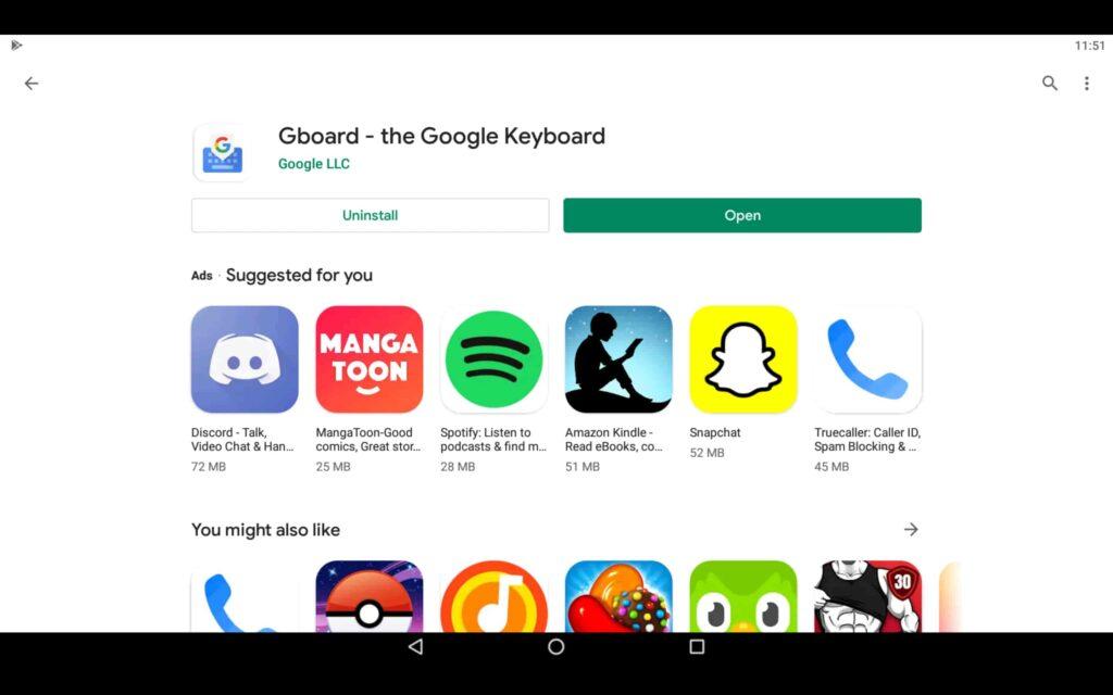 Open Keyboard App