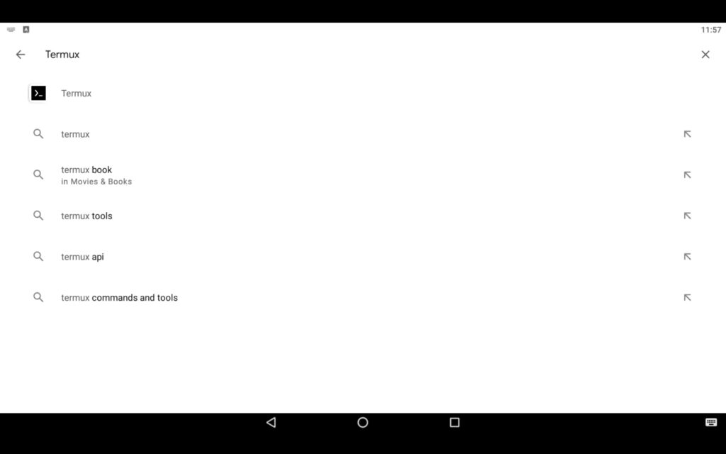 Search Linux Terminal App