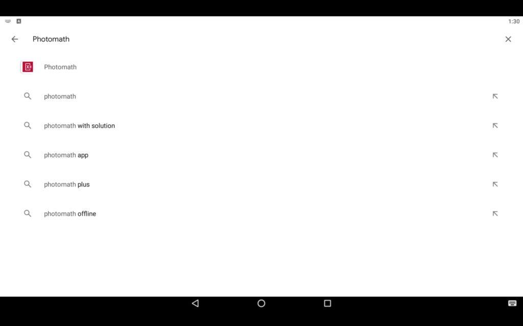 Search Math App on PC